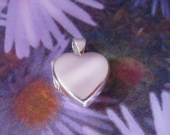 Silver Heart Locket with sterling silver Chain,   Love my Heart