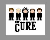The Cure Pixel People Character Cross Stitch PDF PATTERN ONLY
