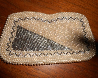 1940s Beaded Clutch with Pearls