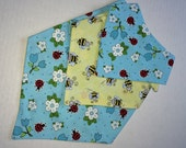 Girls Dog Bandana/Scarf - Handmade - Reversible - Tie-on - Spring and Summer - Halloween