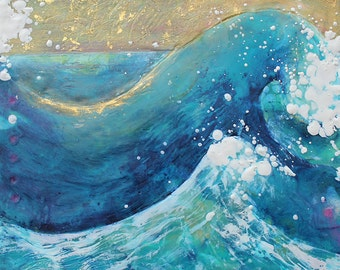 Gathering: Under the Sky,  13x19 Fine Art Print,  8x10 Wave Art, Genesis Giclee, Waves