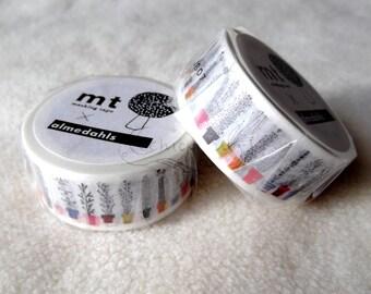 mt x Almedahls Washi Masking Tape - Hunting / Italian Flower Shelf / Mushrooms - 2014AW