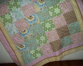 Shabby Chic Quilt Throw Lap Quilt Amy Butler Fabrics