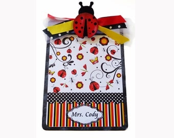 Personalized Clipboard Teacher Gift Ladybug