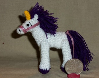 Unicorn Miniature Crochet Thread Artist  Ready to Ship