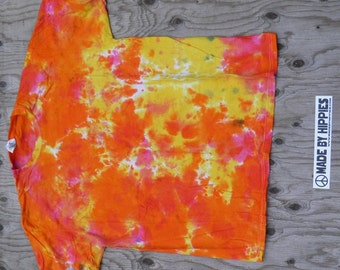 The Golden Dawn Tie Dye T-Shirt (Fruit of the Loom Size XL) (One of a Kind)