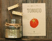 Tomato Vegetable Seeded Letterpress Postcard - Plantable Handmade Paper Garden