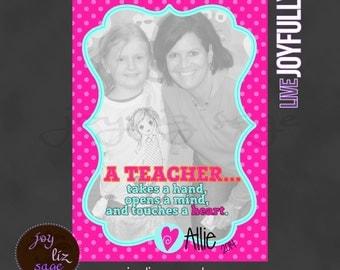 Personalized Teacher Gift Design 2 - Digital File sized 5x7