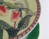 Tiered Plates, Serving Piece, Green Pedestal Plates