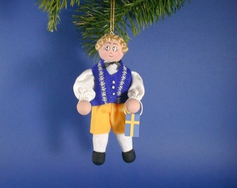 Swedish Boy Clothespin Ornament