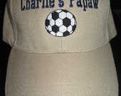 Custom Soccer Hat for Papaw- Personalized