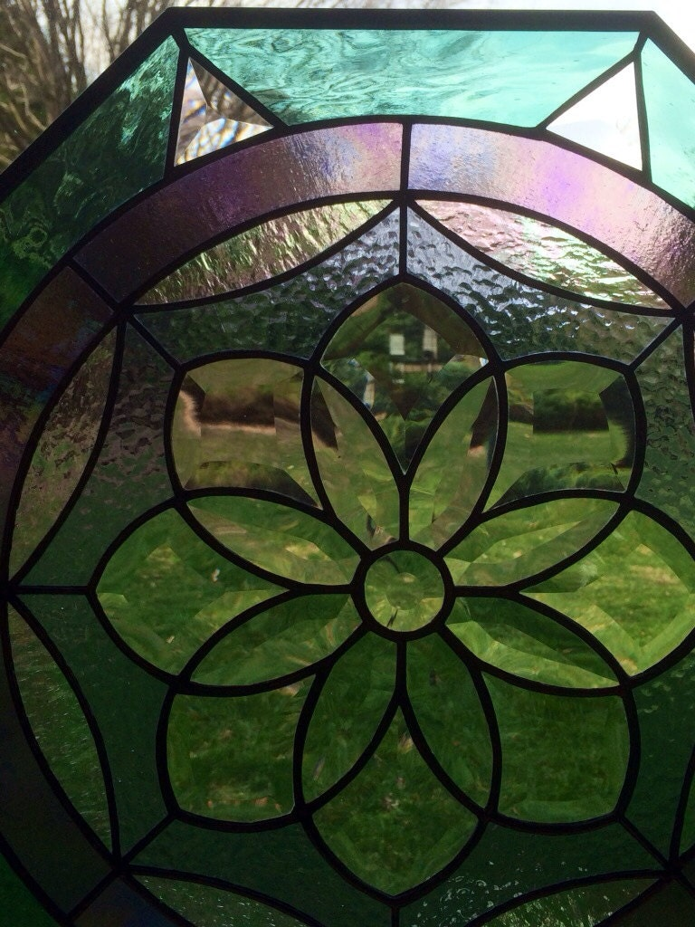 Glass Compass Rose Patterns : Compass rose stained glass octagonal window panel
