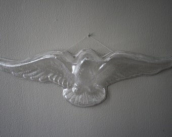 Doorway or Wall Sculpture, Clear Eagle, unique hipster decor