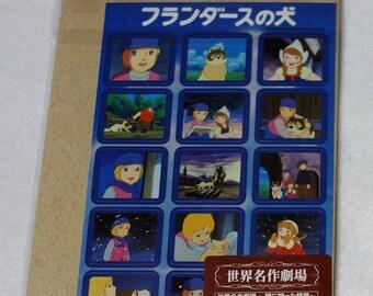 Anime A Dog of Flanders - Post cards & sticker sheet set