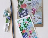 iPhone5 Sticker and matching blank art card: Sydney winter flowers