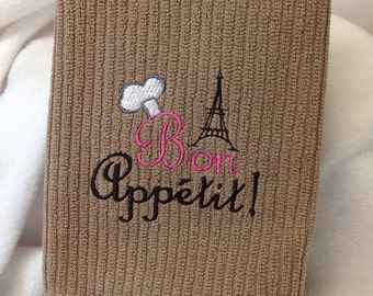 Bon Appetit Embroidered Kitchen Towel