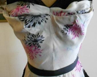 """1940's, 32"""" bust, silk sheath dress"""