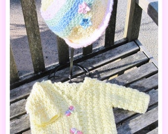 Crochet Crossover Sweater and Cloche Hat Ages 5- 12