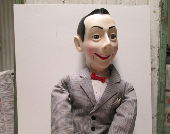 pee wee herman ventriloquist puppet doll tv show pee wee 39 s. Black Bedroom Furniture Sets. Home Design Ideas