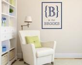 Custom Name Decal - INITIAL and name - Alphabet - Nursery - Baby room