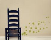 SHAMROCK - four leaf clovers - Saint Patty's Decor - St Patrick's day Vinyl Decal Wall art