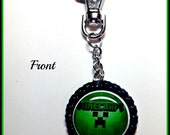 Mine Craft Backpack charm with your child's name, favorite character,sports team,logo, Backpack charms & Zipper Pulls