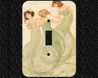 Three mermaids dance in a circle V1 Switch Plate Covers Toggle/Rocker/Outlet