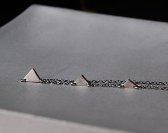 Teeny Tiny Three Triangles- Pyramids of Giza Necklace- Custom and personalized with Initials