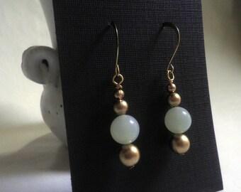 New JADE earrings, dangle, pierced earrings