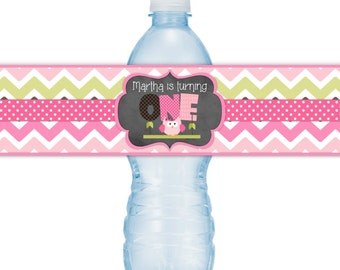 Items similar to 40th Birthday Water Bottle Labels, 40th Birthday ...