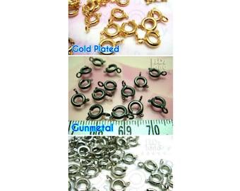 final stocks / B109 / 150Pc / Diameter 6mm - Spring Ring Clasps / Bolt Ring Findings