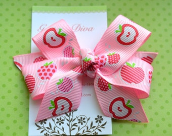 Pink Apples Classic Diva Bow