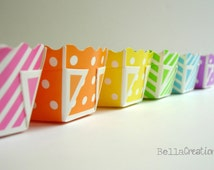 Paper Loaf Pans - Polka dot and stripe loaf pans