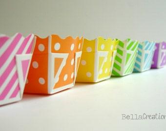 Paper Loaf Pans - Polka dot and stripe loaf pans