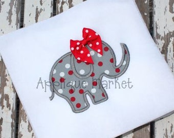 Machine Embroidery Design Applique Elephant 2  INSTANT DOWNLOAD
