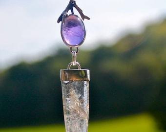 Amethyst and Phantom Quartz Necklace