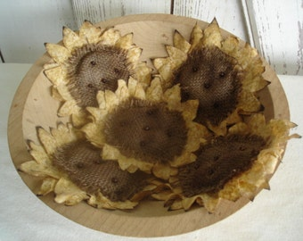 Set of 5 Sunflower Bowl Fillers, Primitive, Rustic, Sunflowers, Home Decor, Summer, Fall, Ofg, Faap, Hafair, Dub