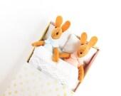 Play set Felt miniature Le Protty bunny family play set