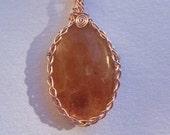 Celtic Sunstone Pendant
