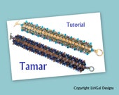 Tamar SuperDuo and Tila Beadwork Bracelet PDF Tutorial