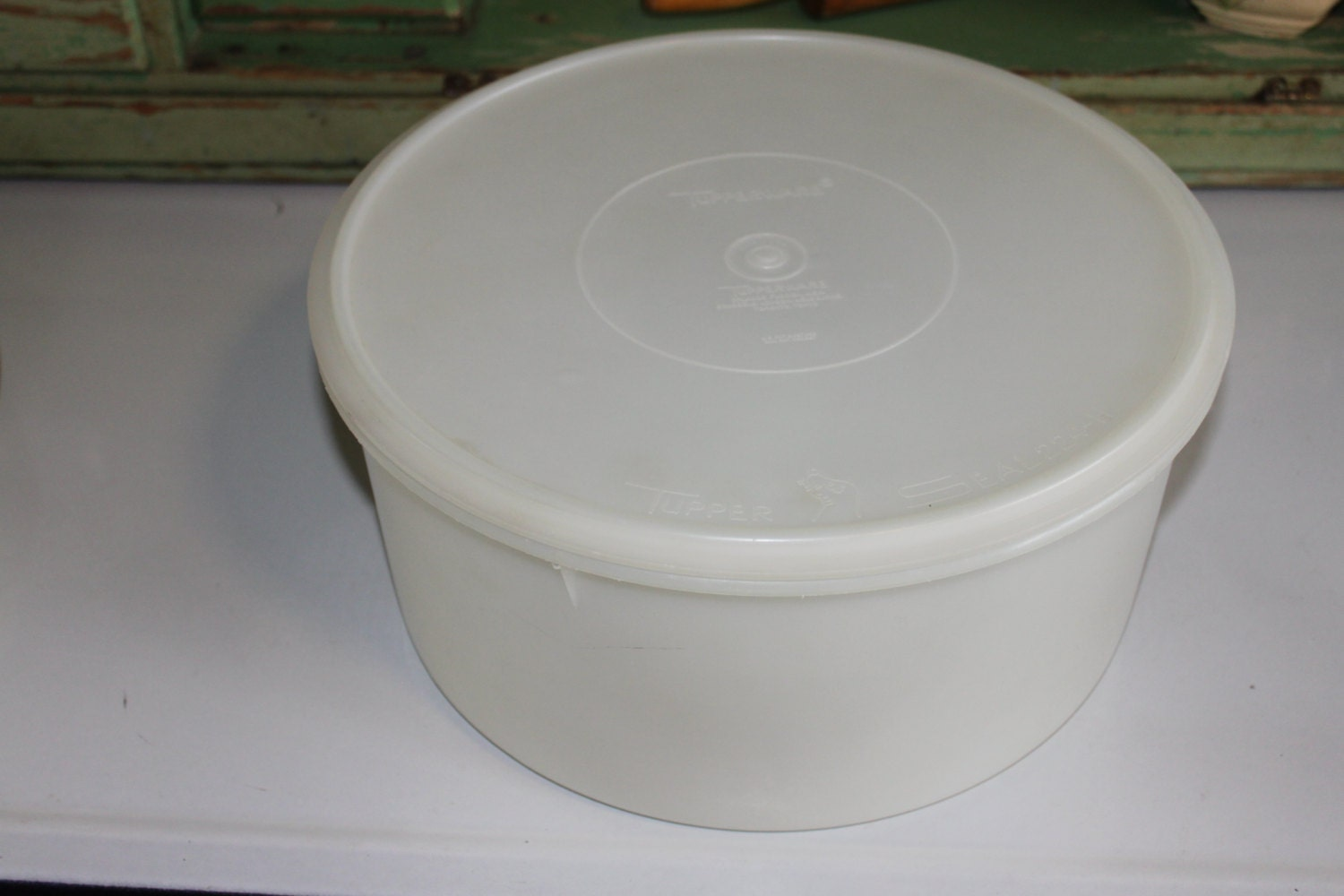 Tupperware Large Container With Lid Cake Keeper Vintage