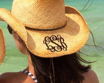 Monogrammed Cowboy Hat