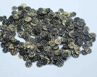 100 Metallic Golden Blackish Round Shape Sequins/KBRS85