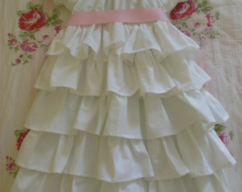 handmade childs petticoat dress easter holiday flower girl shabby chic