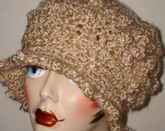 Pattern Elegant Crochet Edwardian Bobble Style Cloche Flapper Hat ( Pdf Format in digital download) (Pattern Only) May sell finished item