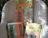 Button Holes - Quilt & Pillow Set - Modern All Cotton