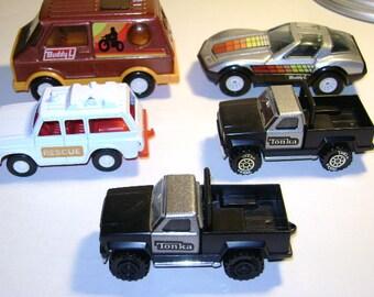 1970's tonka, buddy L & tootsie vintage mixed lot toy vehicles
