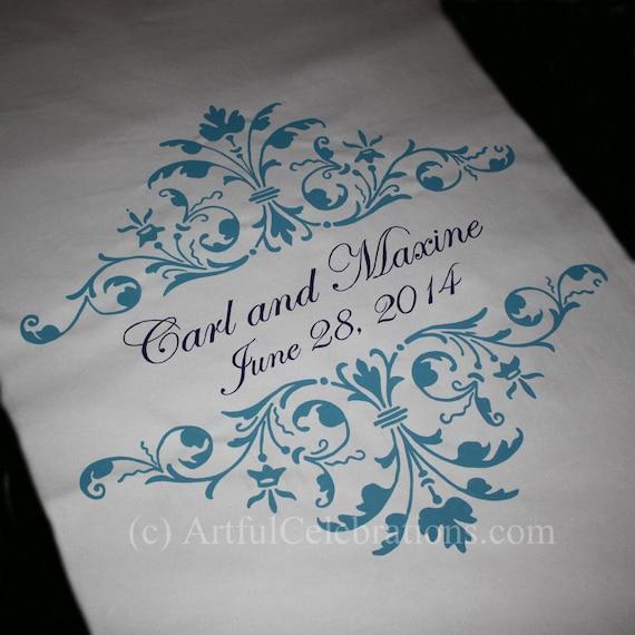 Wedding Aisle Runner - Hand Painted Custom Design DEPOSIT