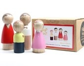 The Sunday Family // Goose Grease Wooden Dolls Fair Trade Made