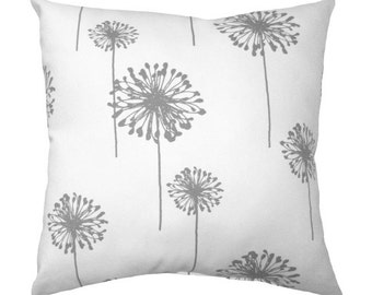 Premier Prints Dandelion Storm Grey Decorative Pillow - Free Shipping
